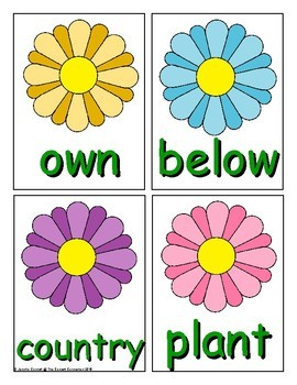 Spring Sight Word Recognition Center or Whole Group Game for Fry 201-300