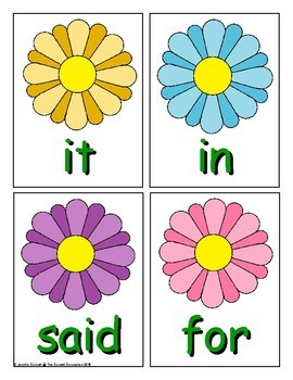 Spring Sight Word Recognition Center or Whole Group Game for PrePrimer List