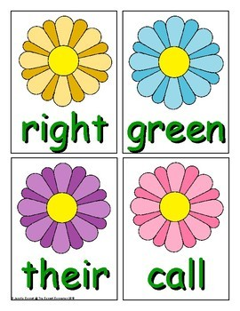 Spring Sight Word Recognition Center or Whole Group Game for Second Grade