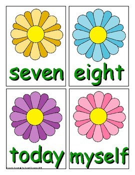 Spring Sight Word Recognition Center or Whole Group Game for Third Grade