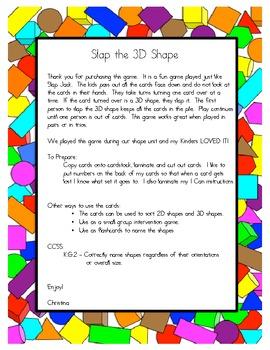 Slap the 3D Shape