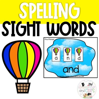 EDITABLE! Spring Sight Word Spelling Review Game