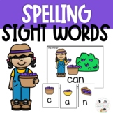Spring Sight Word Spelling Task Cards Review Game