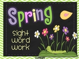 Spring Sight Word Word Work