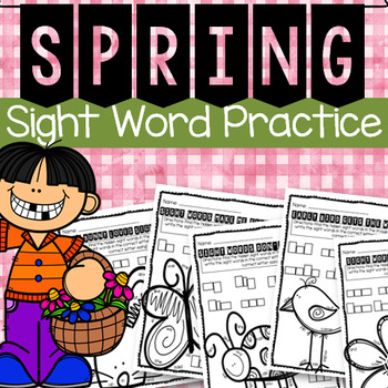 Spring Sight Word Workheets