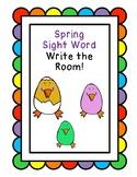 Spring Sight Word Write the Room-Purple Rainbow Words