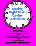 Spring Sight Word and Graphing Center Activities