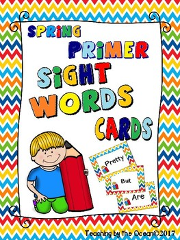 Spring Sight Words Cards FREEBIE