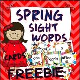 Spring Sight Words Cards FREEBIE