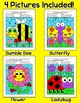 Color by Sight Words Summer Activities: Bee, Ladybug, Butterfly, Flower