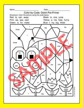Color by Sight Words Spring Activities: Insects: Bee, Ladybug, Butterfly, Flower