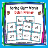 Spring Sight Words Dolch Primer
