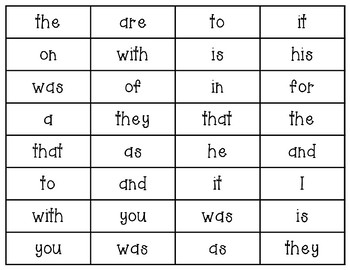 Spring Sight Words Fluency and Game