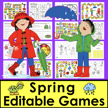 Spring Activities: Sight Words Games EDITABLE For Your Own Lists
