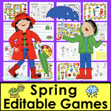 Spring Activities: Sight Words Game Boards-First 106 Dolch Wods