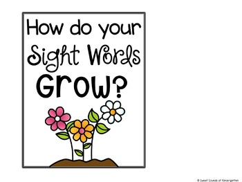Spring Sight Words Game {Pre-Primer and Primer}