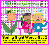 Spring Sight Words - Literacy Centers: Spring Theme - Set 2 - 5 Ways to Play