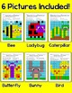 Color by Sight Words Summer Mystery Pictures: Bee, Butterfly, Caterpillar, Bird