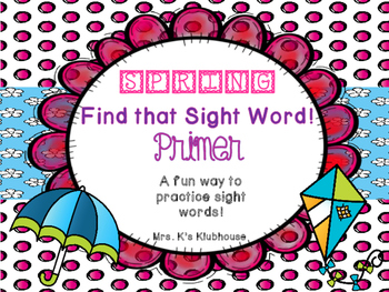 Spring Sight Words: Primer