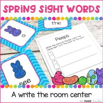 Spring Sight Words Write the Room