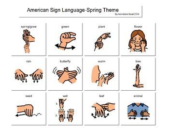 Spring Sign Language Page