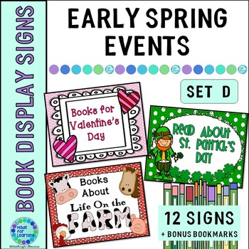 Book Display Signs for the Library or Classroom: Set D Early Spring