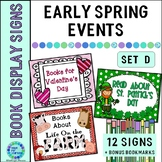 Library Book Display Signs Early Spring