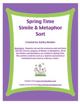 Spring Simile and Metaphor Sort