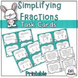Spring Simplifying Fractions Task Card