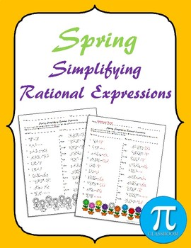 Spring Simplifying Rational Expressions Cooperative Learning