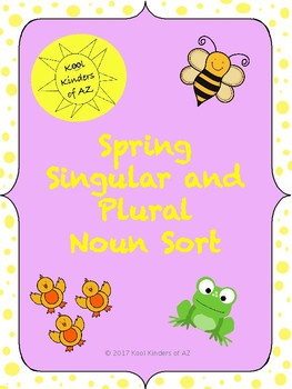 Spring Singular and Plural Noun Sort
