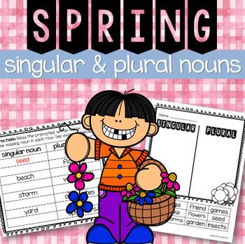 Spring Singular and Plural Nouns