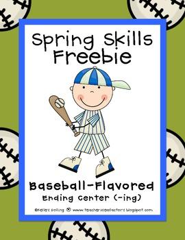 Spring Skills: Baseball Flavored Freebie - Endings (ING)