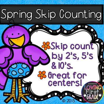 Spring Skip Counting 2's, 5's, & 10's