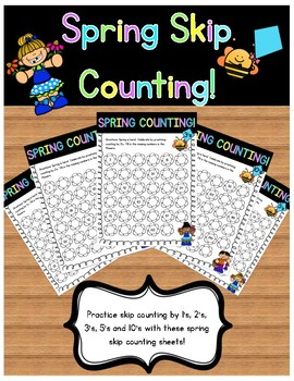 Spring Skip Counting - Fill in the Missing Numbers