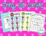 Spring Skip Counting Freebie