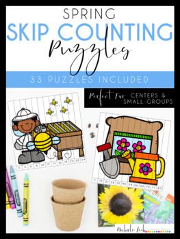 Spring Skip Counting Puzzles by Nichole L.