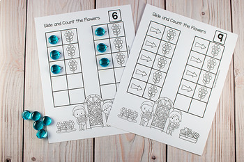 Spring Slide & Count Math  (One to One Correspondence for Pre-K + K)