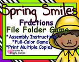 Spring Smiles Fractions File Folder Game