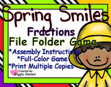 Spring Smiles Fractions File Folder Game