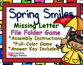 Spring Smiles Missing Letter File Folder Game