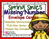 Spring Smiles Missing Number Envelope Center