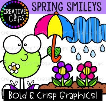 Spring Smileys {Creative Clips Clipart}