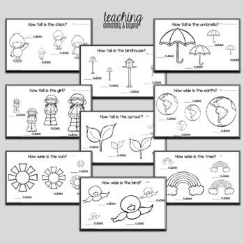 Spring Kindergarten Measurement Activities with Snap Cubes