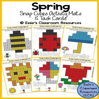 Spring Snap Cubes Activity Mats