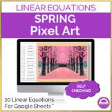 Spring Solving Linear Equations Pixel Art Activity Google Sheets