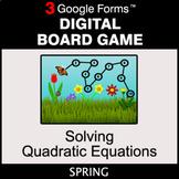 Spring: Solving Quadratic Equations - Digital Board Game |