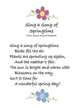 Spring Song: Sing a Song of Springtime