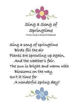 Spring Song: Sing a Song of Springtime