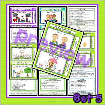 Songs, Nursery Rhymes and Fingerplay Cards - Set 5 Spring - Nature